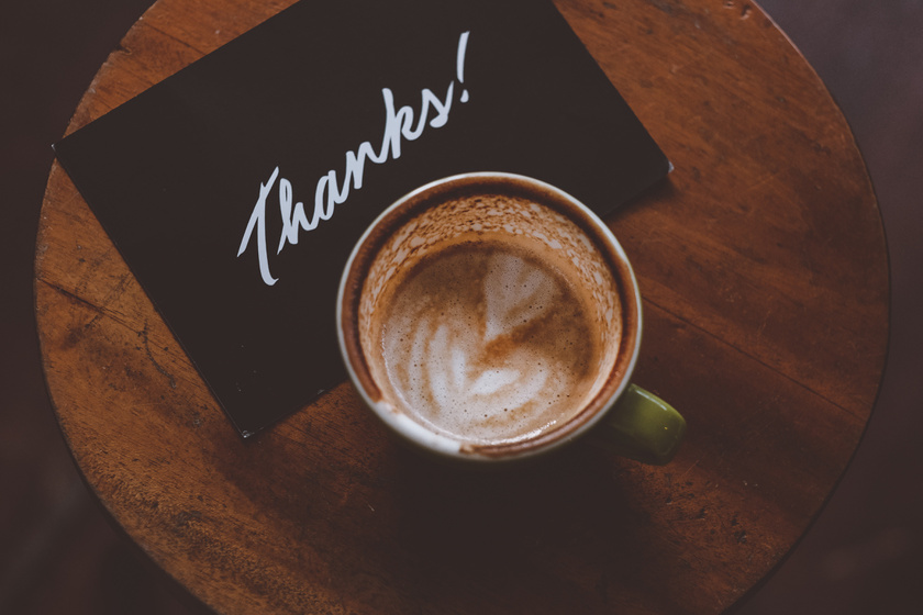 köszönőlap üdvözlőlap kávé