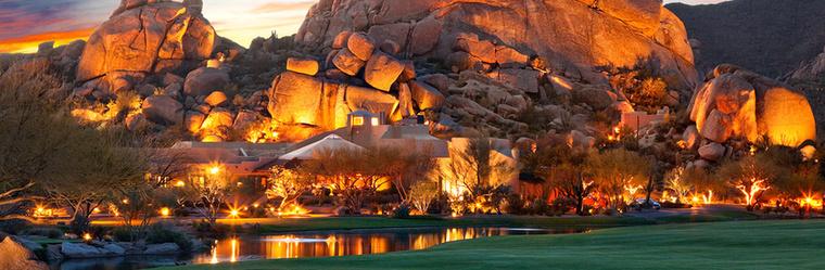 Az arizonai The Boulders Amerika egyik legfenségesebb szállodája, melyet a Sonora-sivatag sziklái vesznek körül