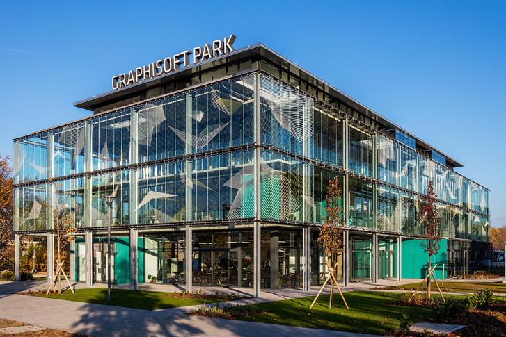 A Graphisoft Park tavaly átadott Fogadóépülete