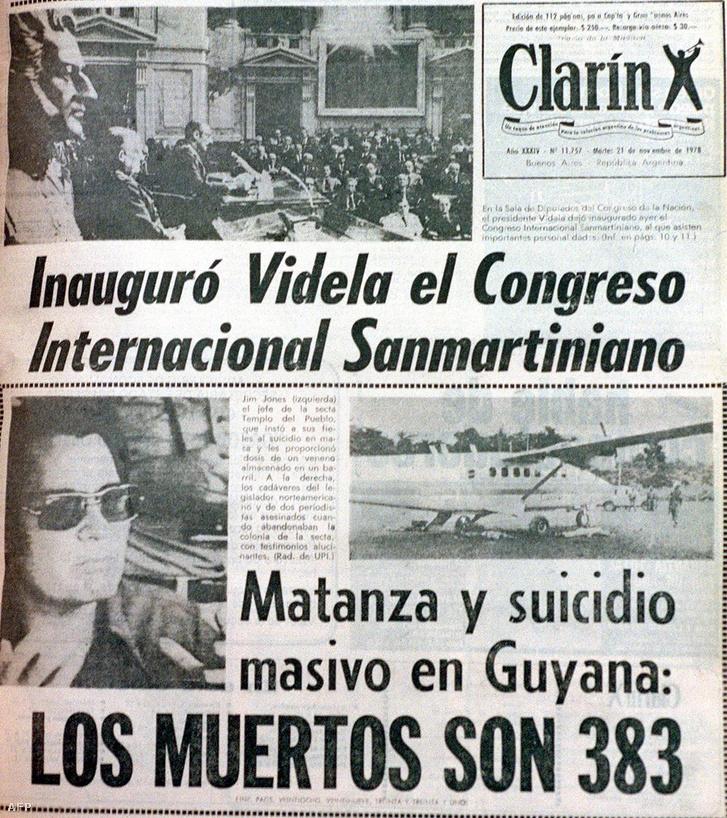"""Amikor az argentin Clarin címlapon hozta döbbenetes hírt, még """"csak"""" 383 halottról tudtak"""