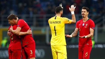Portugália továbbjutott az olaszok ellen, de a nap gólját egy skót lőtte Albániában