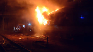 Lángolt egy vasúti kocsi a Nyugati pályaudvaron