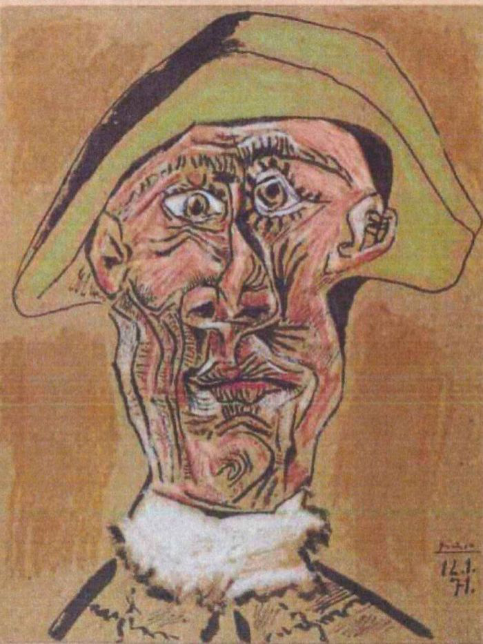 Pablo Picasso: Tete d'Arlequin