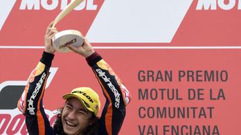 Egy 15 éves motoros Grand Prix-győzelemmel sokkolt