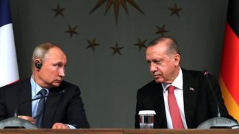 Hétfőn találkozik Putyin és Erdogan