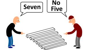 Balról nézve 7 farönk, jobbról nézve 5. Hogy lehet ez?!