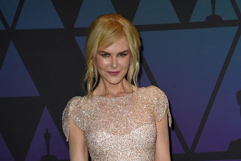 Nicole Kidman pezsgőszínű estélyiben tündökölt az Oscar-partin - Álomszép volt