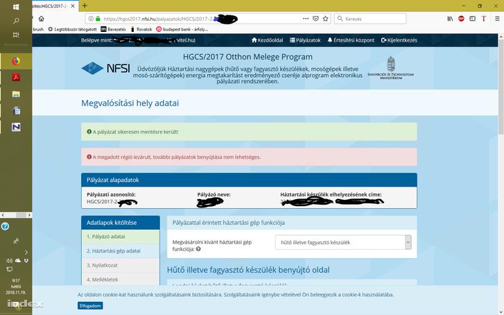 Amit én kaptam 3 perccel a beadási határidő előtt (képernyő fotó) az azt bizonyíthatja ,hogy valami más is történt , mert az oldal megnyitása előtt 3 perccel úgy tűnik a beadást már le is zárták!