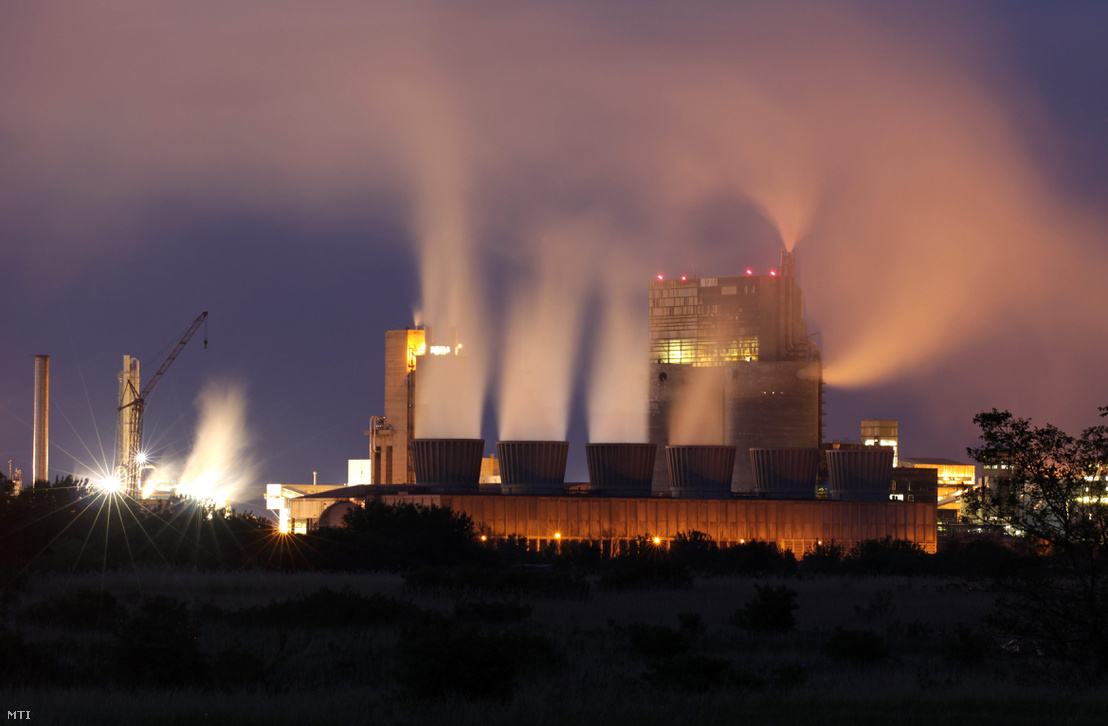 A Nitrogénművek Zrt. - korábban Péti Nitrogénmûvek - gyára a Veszprém megyei Pétfürdő határában 2012-ben