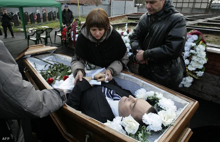 Szergej Magnyitszkij temetése Moszkvában 2009. november 20-án