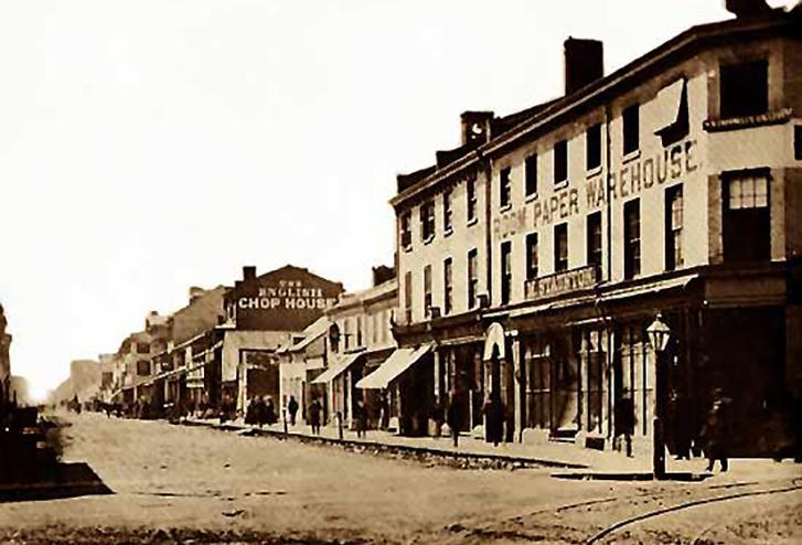 Toronto belvárosa 1860-ban
