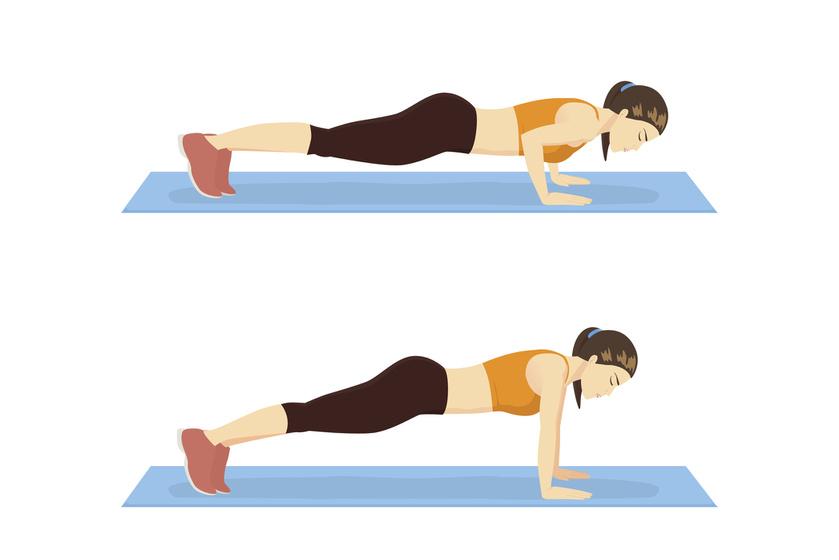 Szabályos fekvőtámasznál a könyék a vállhoz igazodik, a törzs egyenes, míg a nyak nyújtott. A lábakat egy vonalban kell tartani a gerinccel, a hasat nem szabad leejteni.