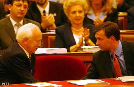 Mádl Ferenc köztársasági elnök és Orbán Viktor