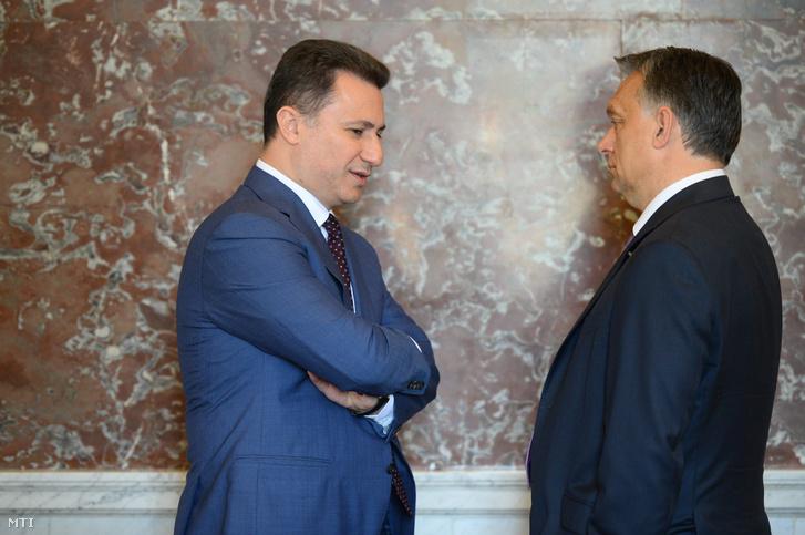 Nikola Gruevszki és Orbán Viktor 2015-ben