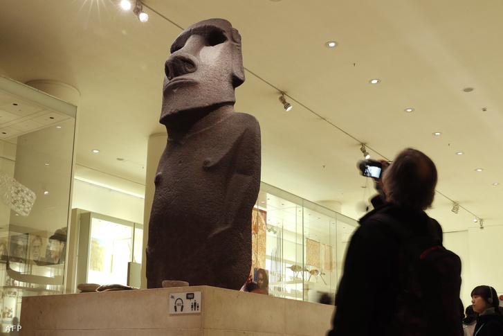A szobor a múzeumban