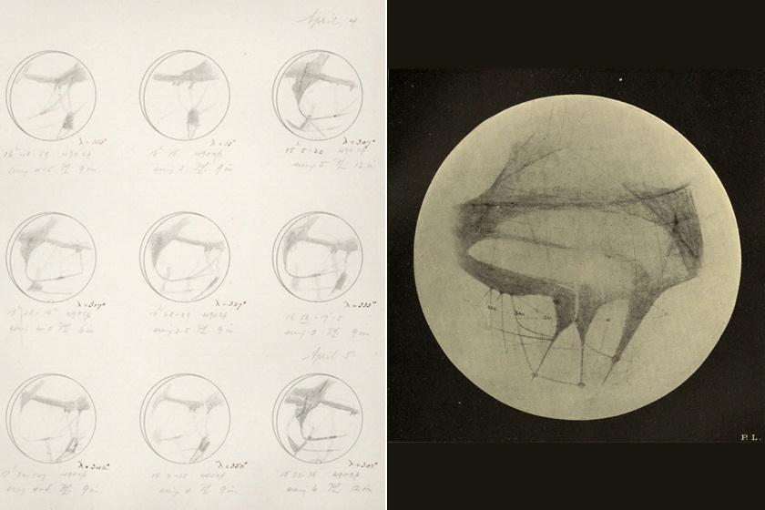 Percival Lowell rajzai a Marsról.