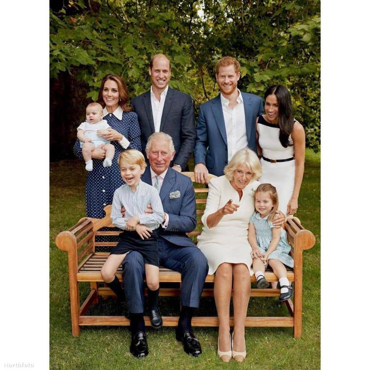 Az ünneplésnek azonban része volt az is, hogy a királyi család hivatalos fotókat adott ki