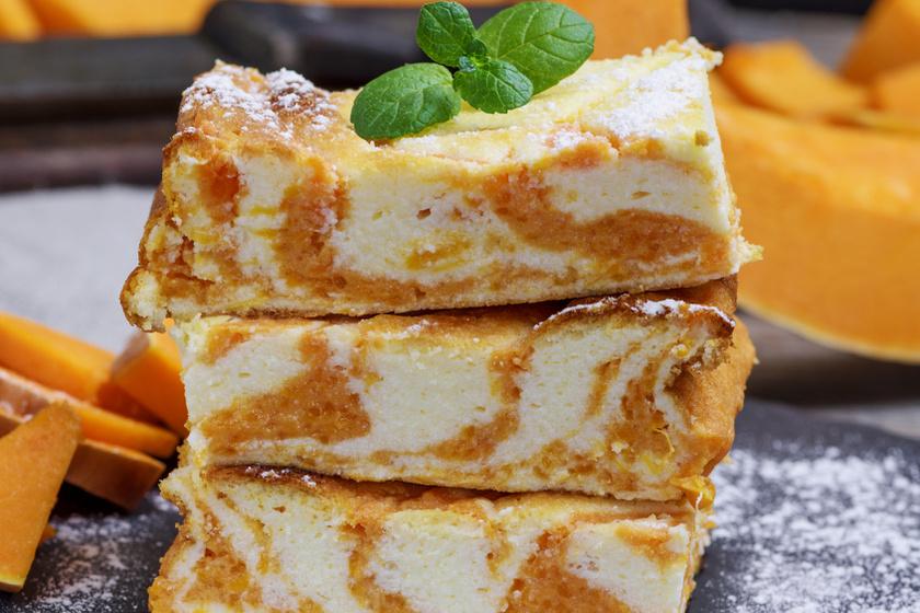 Márványos, sütőtökös, túrós süti: ezt muszáj kipróbálnod