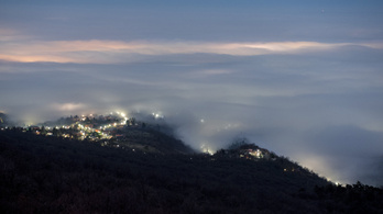 A köd miatt figyelmeztetést adtak ki a Dunántúlra