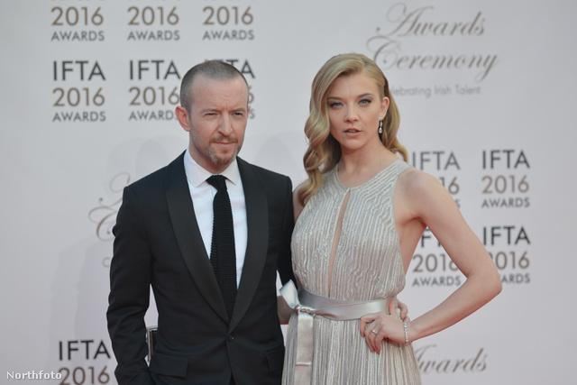 Anthony Byrne és Natalie Dormer a 2016-os IFTA-díjátadón.