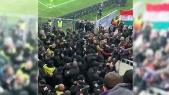Ököllel ütötték a biztonságiak az Újpest-drukkereket a Vidi-stadionavatón