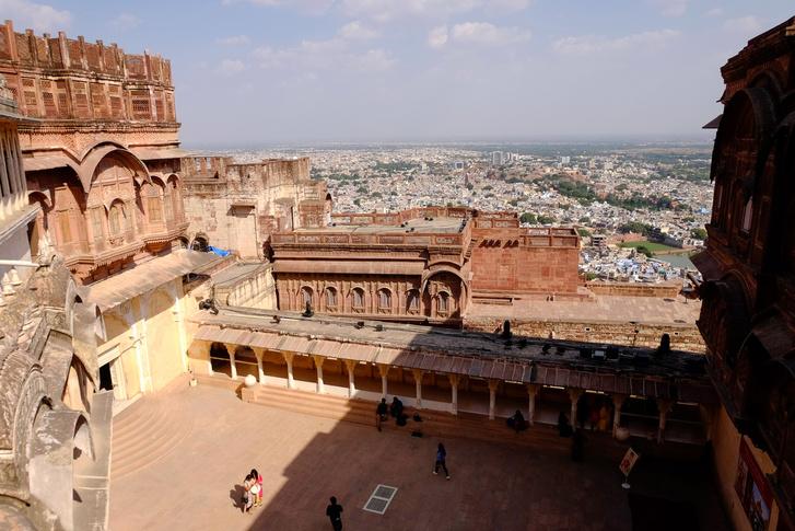 Kilátás a Mehrangarh tetejéről