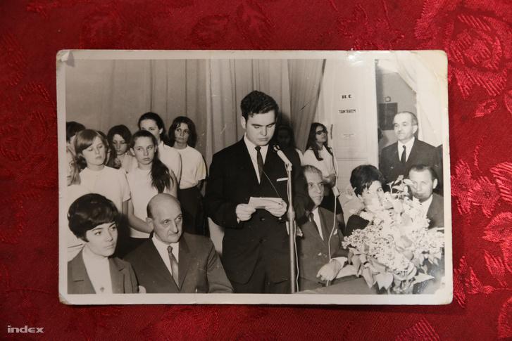 A Postaforgalmi Szakközépiskola ünnepsége 1970-ben