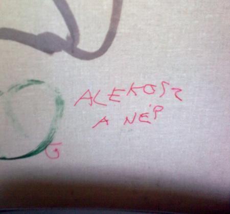 Graffiti a 70-es trolibuszon