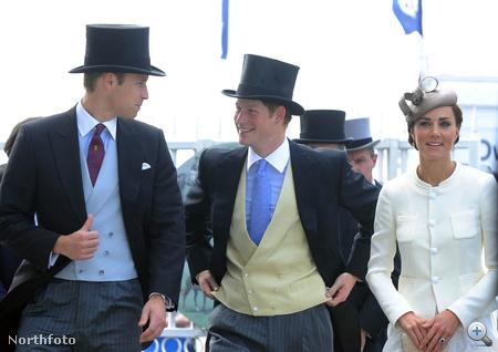 Vilmos és Harry hagyományosan elegánsan érkeztek, csak színeiben tért el kettejük ruházata.