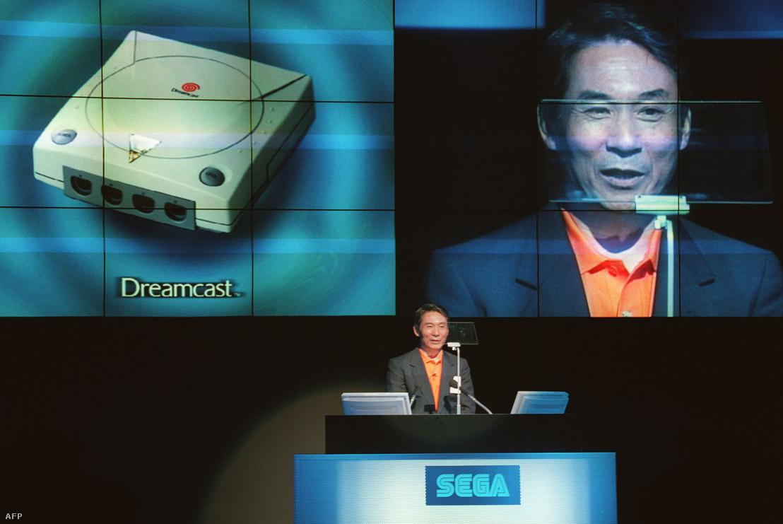 Shoichiro Irimajiri bemutatja a Dreamcast konzolt 1998 május 22-én.