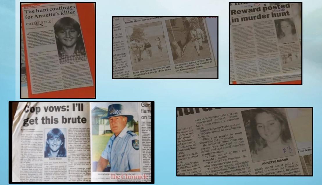 Újságcikkek Annette Mason-ről