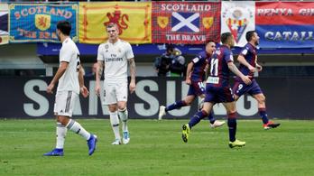 Megsemmisítette az Eibar a Real Madridot