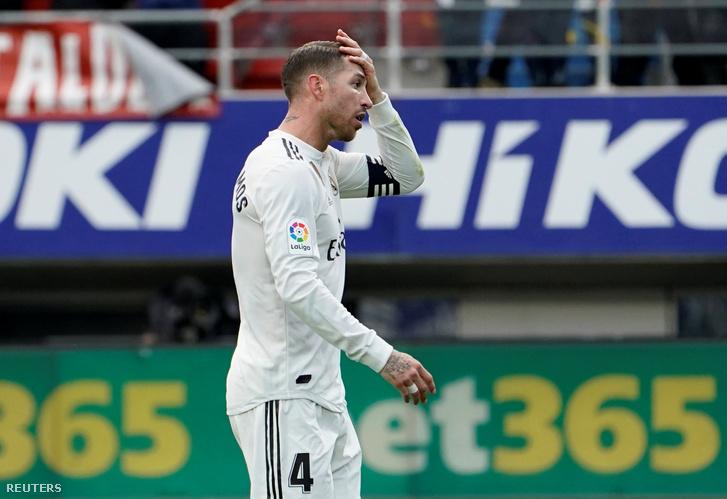 Sergio Ramos az Eibar-Rel Madrid mérkőzésen