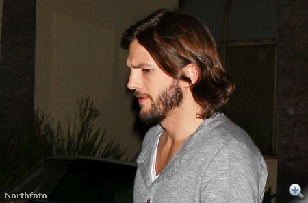 Kutcher június első hetében, már szakállasan