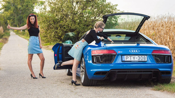 Teszt: Audi R8 V10 - 2018.