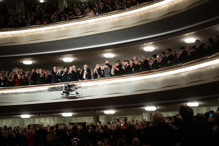 Maestro Penderecki és az ünneplő közönség.