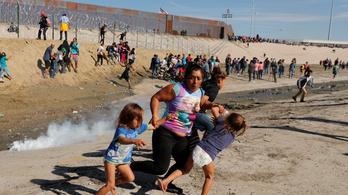 Könnygázt vetettek be a menekültek ellen az amerikai határon