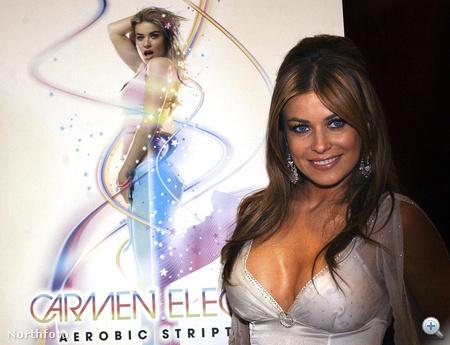 Carmen Electra önnön posztere előtt