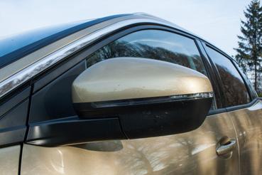 Autópályatempónál már kicsit zajos a 3008, az egyik bűnbak a tükör