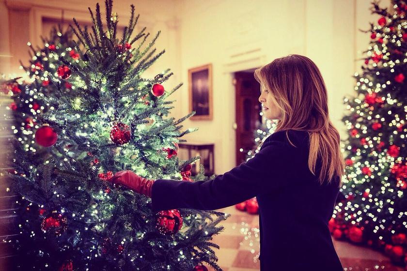 Melania Trump minden részletre ügyelt - szerette volna, ha csodaszép lesz a Fehér Ház idei díszítése is.