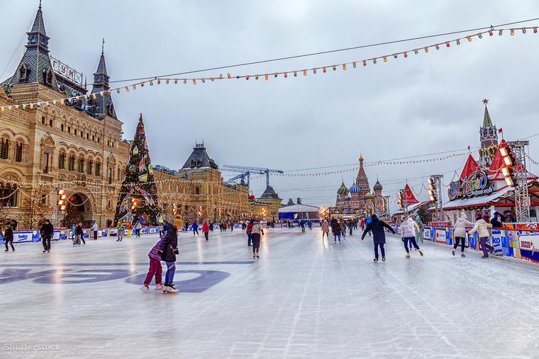A moszkvai Vörös tér jégpályája az egyik legvarázslatosabb az egész világon