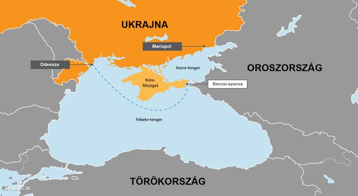 Ukrán-Orosz konfliktus a Kercsi-szorosnál