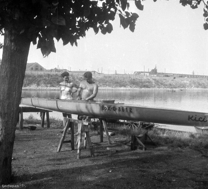 1953. Lágymányosi-öböl észak-nyugati része