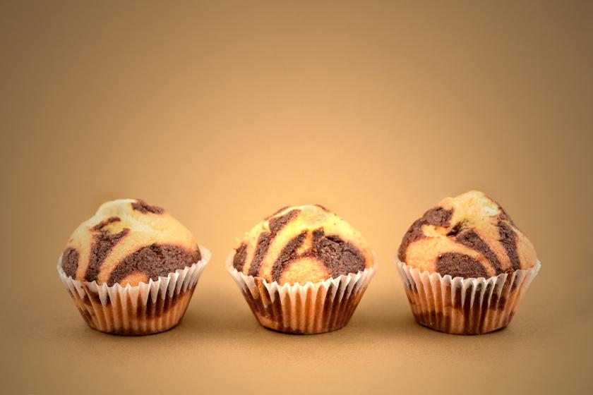 Kakaós-vaníliás márványos muffin, ami fél óra alatt elkészül