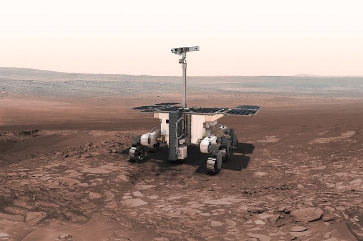 """Fantáziarajz az """"igazi"""" ExoMars 2020 roverről a vörös bolygó felszínén"""