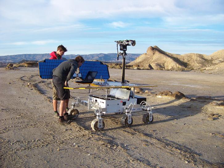 A szimuláció során használt teszt rover
