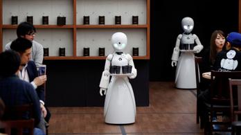 Mozgássérültek irányítják a robotpincéreket egy tokiói kávézóban