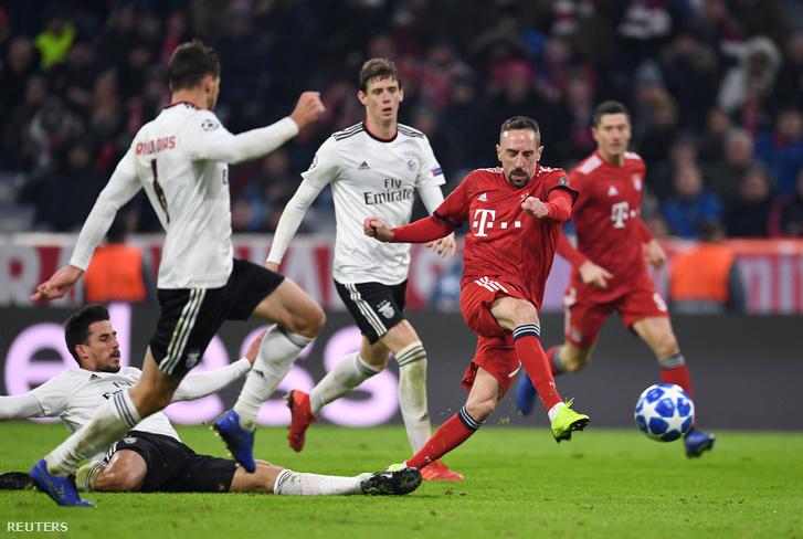 Ribéry lövése, ami a Bayern 5. gólja