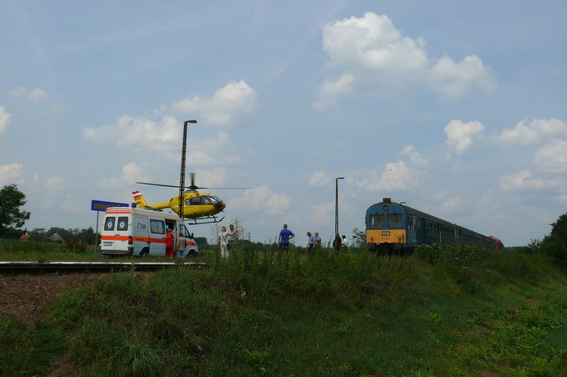A baleset idején a helyszínen készült fotó