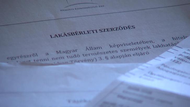 NET Zrt. lakásbérleti szerződés részlete a kormányzati videóból